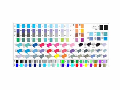 Muestras de Colores para Sublimacion