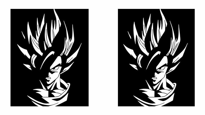 Goku dragon ball SS vector playera