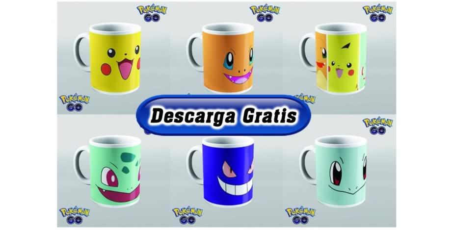 Diseños tazas pokemon
