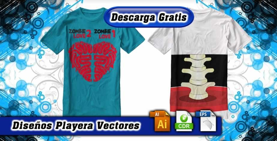 Playeras diseños zombies love torzo vertebras