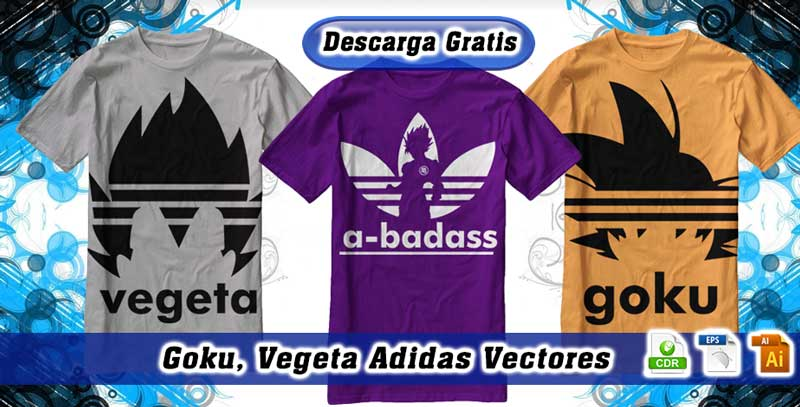 Goku y Vegeta Adidas Vectores