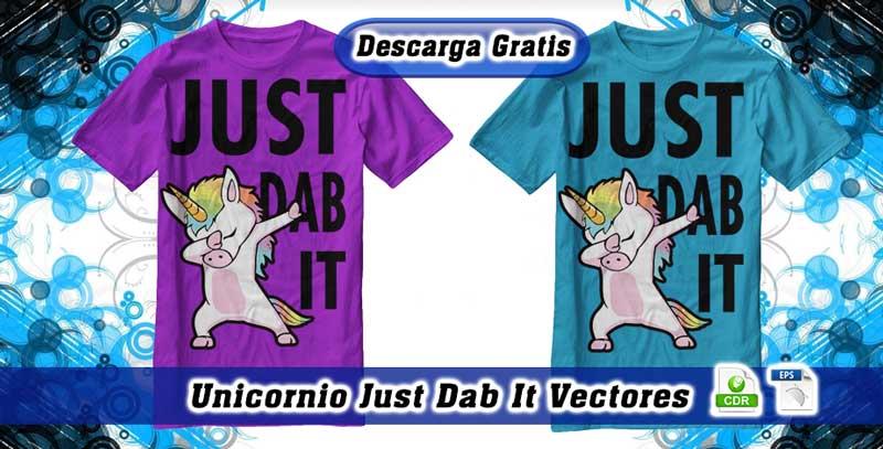 Unicornio Just Dab Vectores