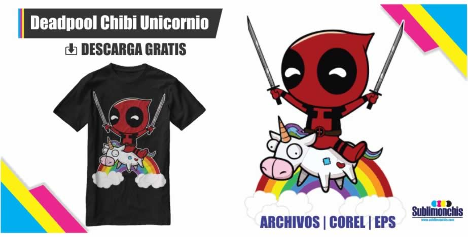 Vectores Deadpool Unicornio