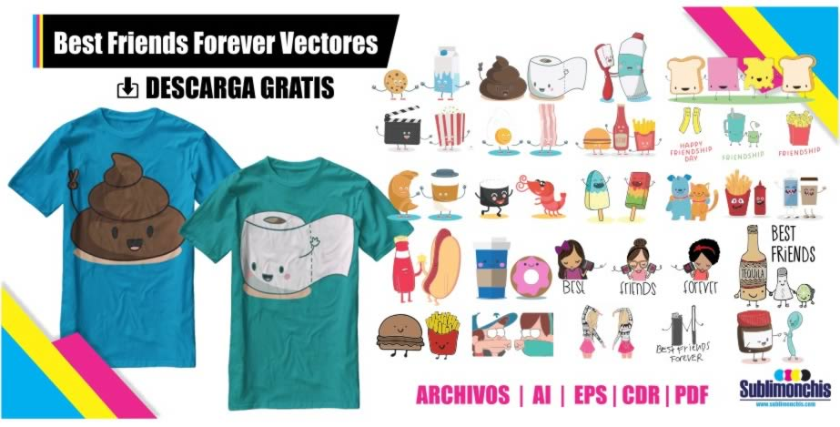 Vectores Best Friends Forever