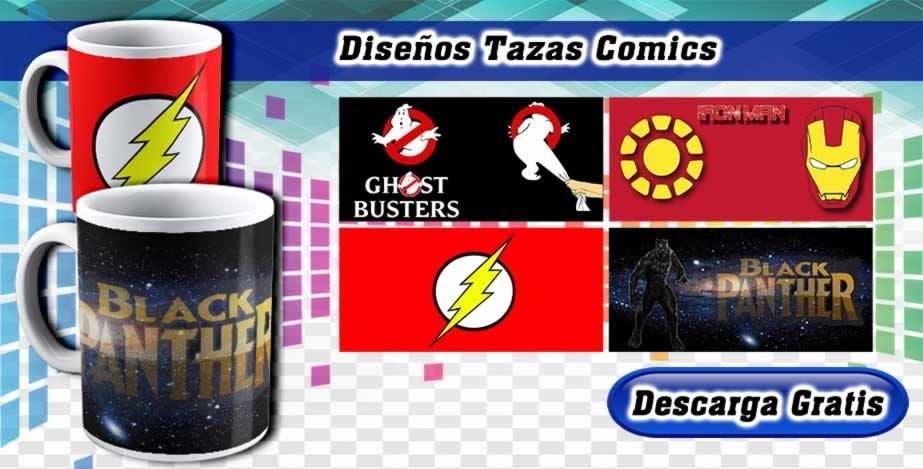 Diseños Tazas Marvel Comics