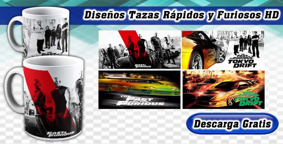 Diseños Tazas Fast and Furious