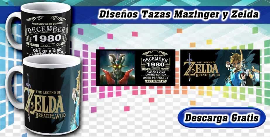 Diseños Tazas Mazinger Zelda