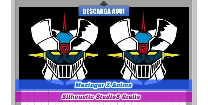 Mazinger Z Silhouette Cameo 3