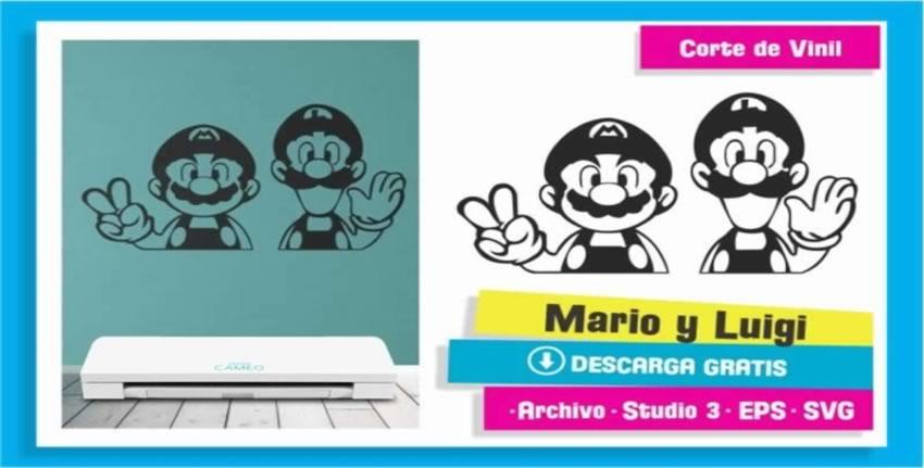 Mario y Luigi Bros Cameo 3 Vinil Pared