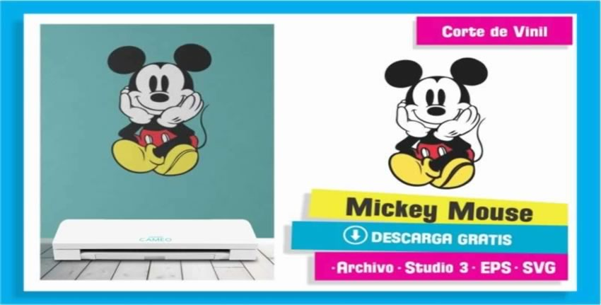 Mickey Mouse Cameo 3 Vinil Pared