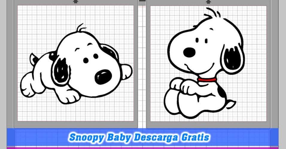 Snoopy bebe silhouette cameo