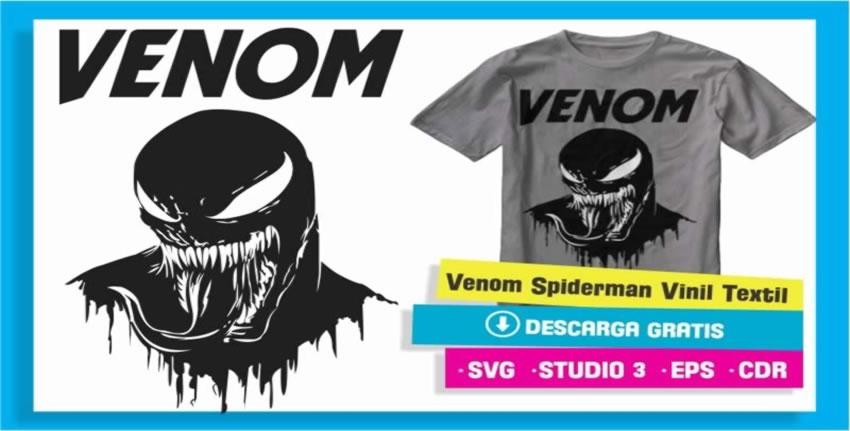 Venom Spiderman Vinil Textil Cameo 3
