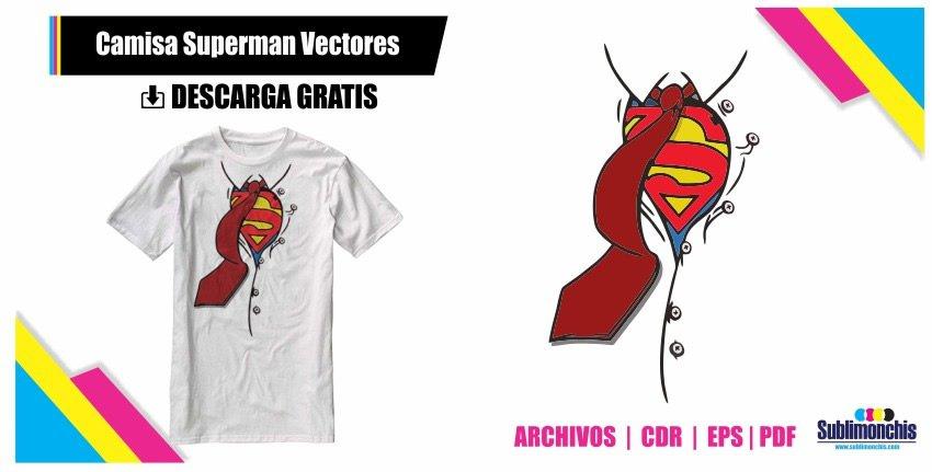 Camisa Superman Vectores