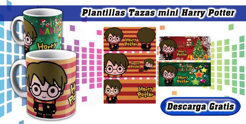 Plantillas Tazas Mini Harry Potter