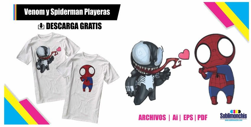 Venom y Spiderman minis Playeras