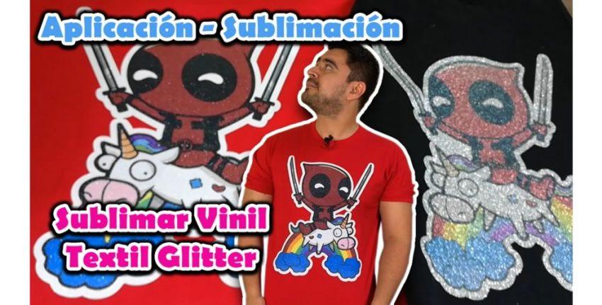 sublimar vinil textil glitter 2