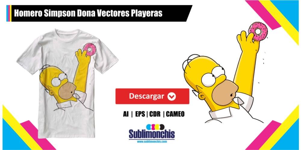 Homero Simpson Dona Vectores Playeras