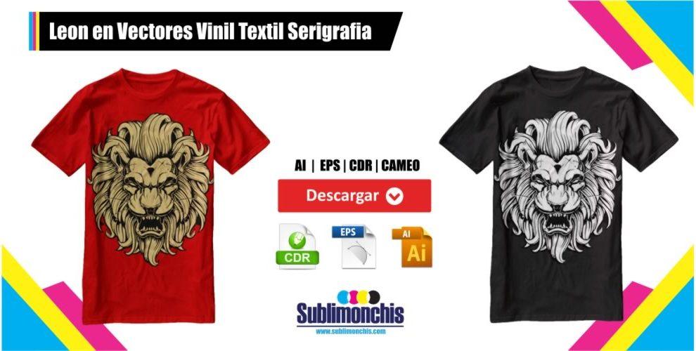 Leon Vectores Playeras Vinil Textil Serigrafia