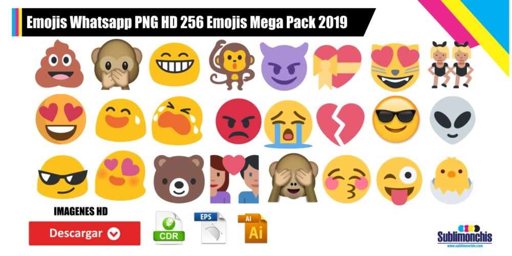 Emojis Whatsapp PNG HD 256 Emojis Mega Pack 2019