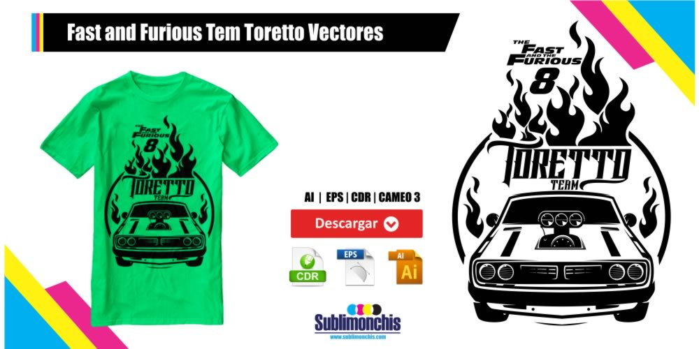 Fast and Furious Vectores Team Toretto