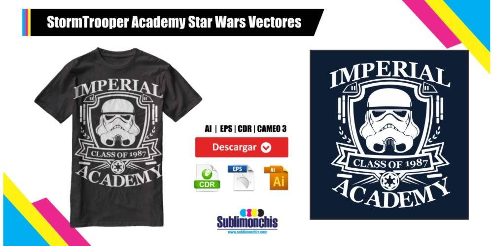 StormTrooper Academy Star Wars Vectores