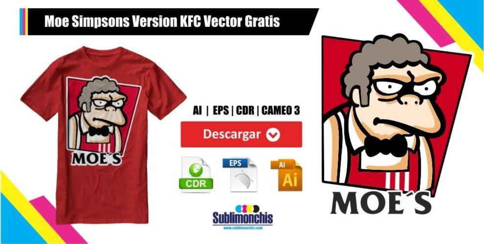 Moe Simpsons KFC Vector Gratis