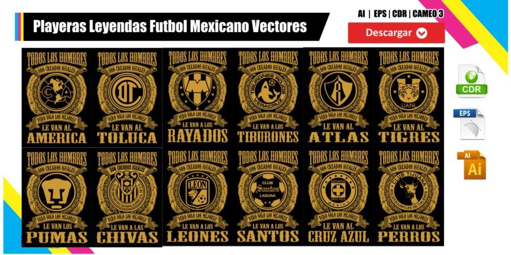 Leyendas Futbol Mexicano Vectores