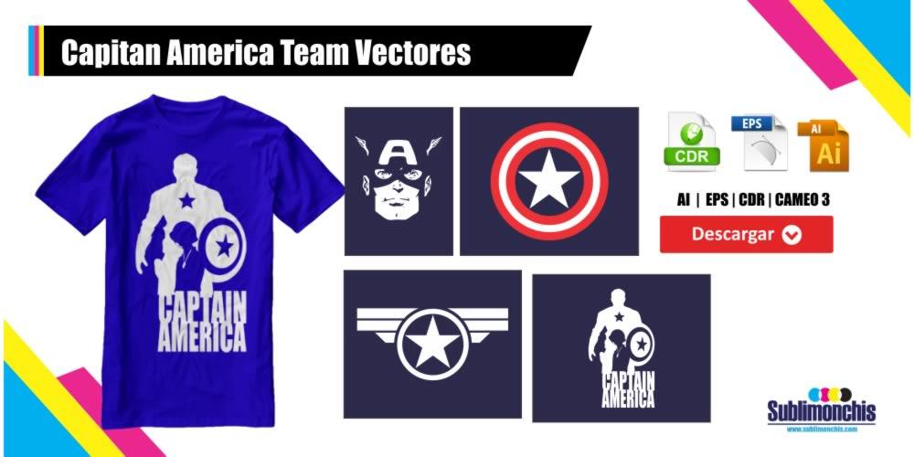 Capitan America Team Vectores