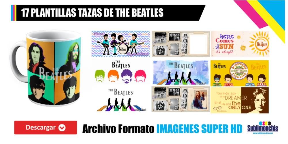 Plantillas para Tazas The Beatles