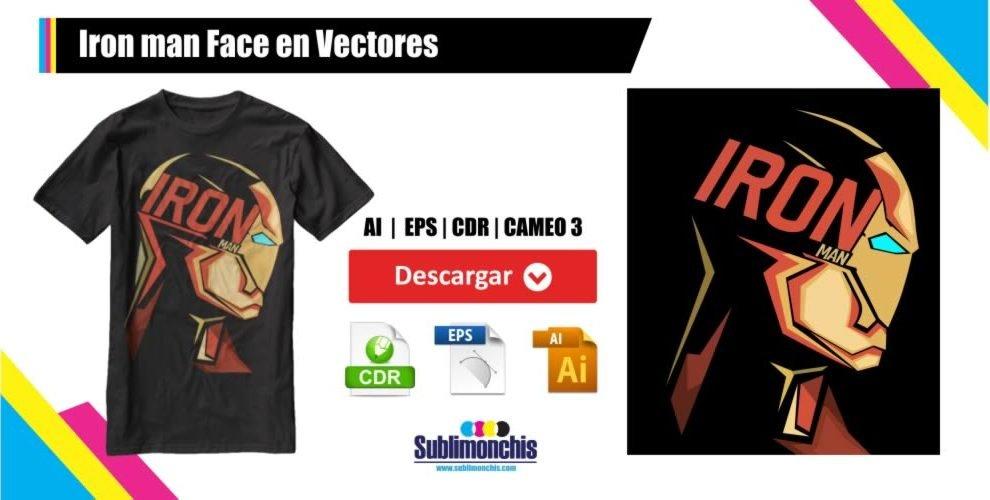 Iron man Face en Vectores
