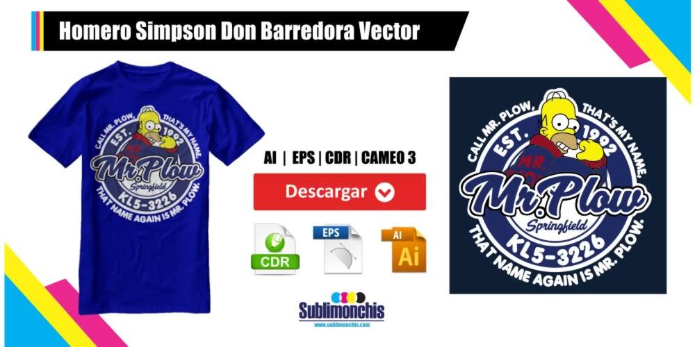 Homero Simpson Don Barredora Vector