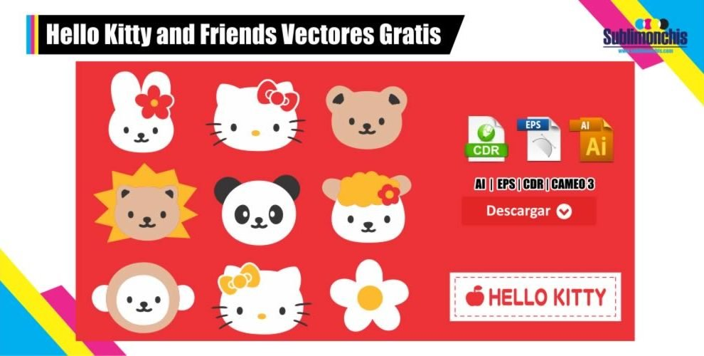 Hello Kitty and Friends Vectores Gratis