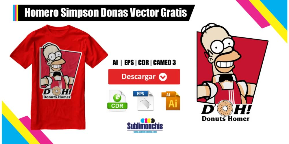 Homero Simpson Donas Vector