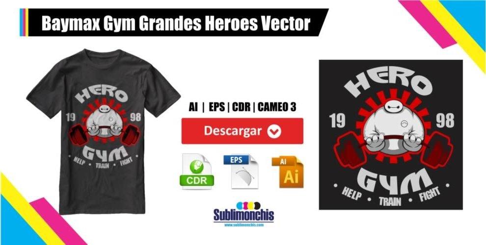 Baymax Gym Grandes Heroes Vector